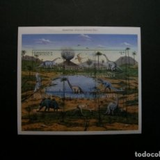 Sellos: /19.10/-DOMINICA-1999-MINI PLIEGO SERIE COMPLETA EN NUEVO(**MNH)-ANIMALES PREHISTORICOS. Lote 221585030