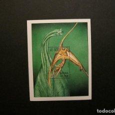 Sellos: /19.10/-SIERRA LEONE-2001-BLOQUE EN NUEVO(**MNH)-ANIMALES PREHISTORICOS. Lote 221588450