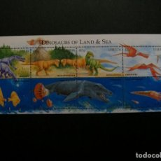 Sellos: /19.10/-LIBERIA-1999-MINI PLIEGO SERIE COMPLETA(**MNH)-ANIMALES PREHISTORICOS. Lote 221589675