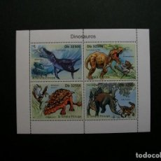 Sellos: /19.10/-S.TOME&PRINCIPE-2011-MINI PLIEGO SERIE COMPLETA(**MNH)-ANIMALES PREHISTORICOS. Lote 221593096