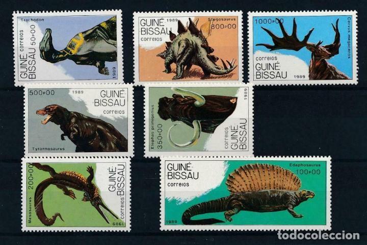 GUINEA BISSAU 1989 IVERT 542/8 *** FAUNA - ANIMALES PREHISTÓRICOS (Sellos - Temáticas - Fauna)
