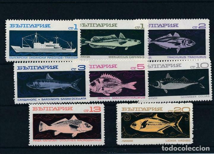 BULGARIA 1969 IVERT 1732/9 *** FAUNA MARINA - PECES DIVERSOS - PESCA DE ALTURA (Sellos - Temáticas - Fauna)