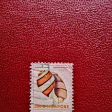 Sellos: SINGAPUR - VALOR FACIAL 20 C - CRUSTÁCEO - APLUSTRUM AMPLUSTRE. Lote 222222960