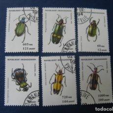 Sellos: REPUBLICA MADAGASIKARA, 1993, TEMA FAUNA, INSECTOS. Lote 222232310