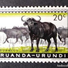 Sellos: 1959 RUANDA-URUNDI FAUNA BÚFALO CAFRE. Lote 222248746