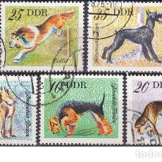 Sellos: LOTE DE SELLOS - ALEMANIA - DDR - FAUNA - ANIMALES - PERROS (AHORRA EN PORTES, COMPRA MAS). Lote 222284107