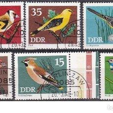 Sellos: LOTE DE SELLOS - ALEMANIA - DDR - FAUNA - ANIMALES - AVES PAJAROS (AHORRA EN PORTES, COMPRA MAS). Lote 222284298