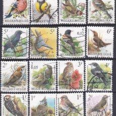 Timbres: LOTE DE SELLOS - BELGICA - FAUNA - ANIMALES - AVES - PAJAROS (AHORRA EN PORTES, COMPRA MAS). Lote 222331111