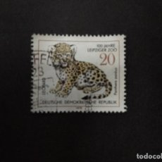 Sellos: ALEMANIA DDR 1978. 100 YEARS LEIPZIG ZOO, YOUNG CATS. YT:DD 1991,. Lote 222392078