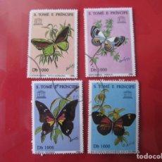 Francobolli: +SANTO TOMAS Y PRINCIPE, 1996,TEMA FAUNA, MARIPOSAS. Lote 223808765