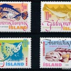 Sellos: ISLANDIA 1998 IVERT 841/4 *** FAUNA - AÑO INTERNACIONAL DE LOS OCÉANOS - PECES DE MAR (I). Lote 225157195