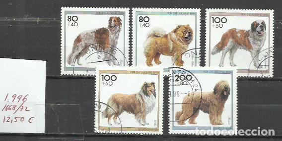 2655-SERIE COMPLETA ALEMANIA PERROS CANES 1996 Nº 1668/72 12,00€ FAUNA ANIMALES DOMESTICOS.DEUTSCHE (Sellos - Temáticas - Fauna)