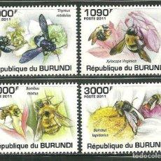 Sellos: BURUNDI 2011 SCOT 882/85 *** FAUNA - LAS ABEJAS - INSECTOS. Lote 226602460