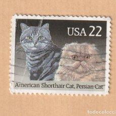 Sellos: USA 22 AMERICAN SHORTHAIR CAT. , PERSIAN CAT. Lote 227899060