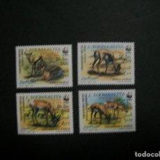 Sellos: /03.12/-SOMALIA-1992-Y&T 390/3 SERIE COMPLETA EN NUEVO(**MNH) A 10%-WWF-ANTILOPAS. Lote 228229350