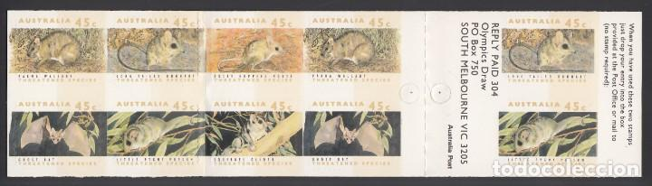 AUSTRALIA. 1992 YVERT Nº C 1249B /**/, FAUNA EN PELIGRO DE EXTINCIÓN (Sellos - Temáticas - Fauna)