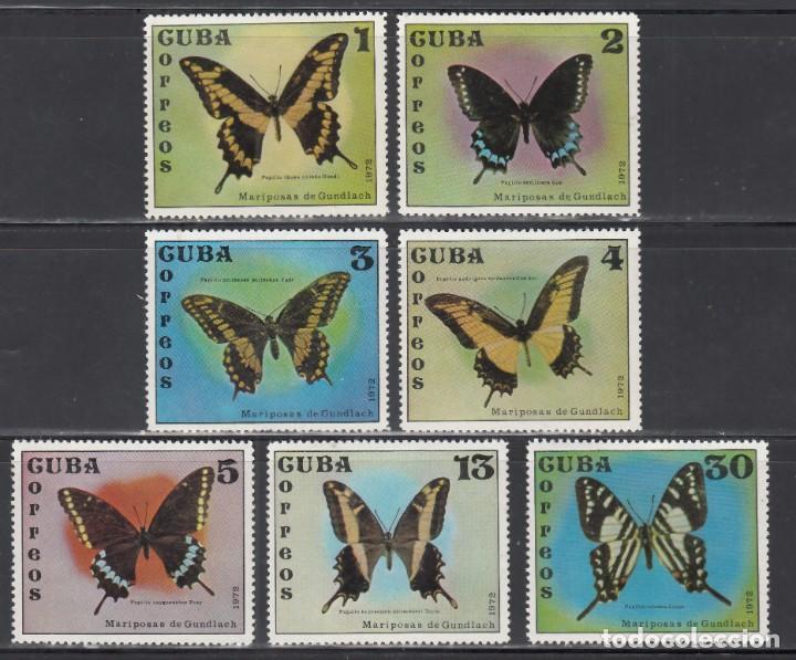 CUBA. 1972 YVERT Nº 1605 / 1611 /**/, MARIPOSAS (Sellos - Temáticas - Fauna)