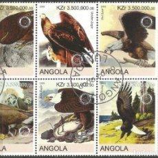 Francobolli: ANGOLA - ÁGUILAS - UN BLOQUE DE 6 SELLOS DE 2000 CON BORDE - MIRE MIS OTROS LOTES U AHORRE GASTOS. Lote 234390220
