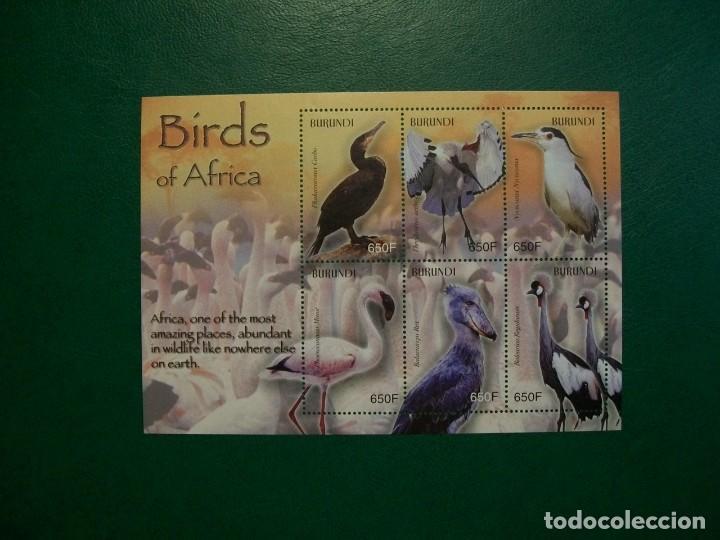 BURUNDI-2004-HOJITA EN NUEVO(**MNH)-PAJAROS DE AFRICA (Sellos - Temáticas - Fauna)
