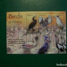 Selos: BURUNDI-2004-HOJITA EN NUEVO(**MNH)-PAJAROS DE AFRICA. Lote 236724230
