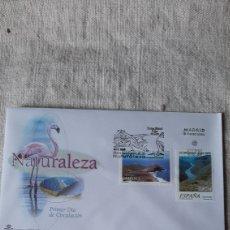 Sellos: NATURALEZA FLORA FAUNA RIBERA SACRAS CAÑONES SIL GALICIA / ALMERÍA PARQUE NATURAL 2002 EDIFIL 3884/5. Lote 237325745