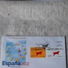 Sellos: TORO ESPAÑA 2002 FAUNA ARTE PRESIDENCIA EUROPEA EDIFIL 3865/6SFC MATASELLO USADOS. Lote 237328660