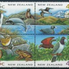 Sellos: NUEVA ZELANDA 1993 IVERT 1235/8 *** PROTECCIÓN DE LA NATURALEZA - FAUNA. Lote 238826025
