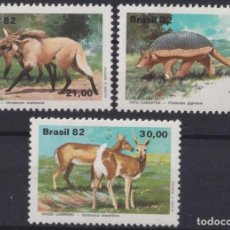 Selos: F-EX21156 BRASIL BRAZIL MNH 1982 PANGOLIN VENADO LOBO WOLF. Lote 239574010