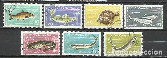 512-SERIE COMPLETA RUMANIA 1969 PECES, FAUNA MARINA Nº 1741 / 7 USADOS, CALIDAD ENVIOS COMBINADOS SI (Sellos - Temáticas - Fauna)