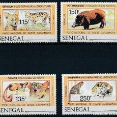 Sellos: SENEGAL 1987 IVERT 722/5 *** FAUNA - PARQUE NACIONAL DE BASSE CASAMANCE. Lote 242137665