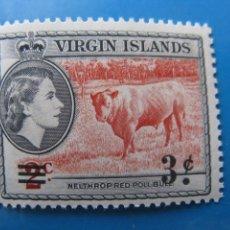 Francobolli: -ISLAS VIRGENES, 1962, SELLO SOBRECARGADO YVERT 128. Lote 244737745