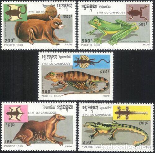 CAMBOYA - KAMPUCHEA 1993 IVERT 1120/4 *** FAUNA - ANIMALES VOLADORES (Sellos - Temáticas - Fauna)