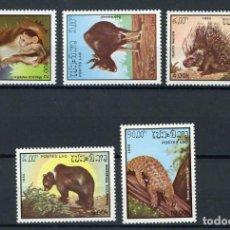 Sellos: LAOS 1985 IVERT 650/4 *** FAUNA - ANIMALES DIVERSOS. Lote 252956085