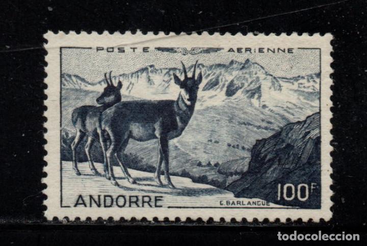 ANDORRA AEREO 1** - AÑO 1950 - FAUNA - ANIMALES SALVAJES - REBECO (Sellos - Temáticas - Fauna)