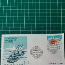 Sellos: FAUNA PESCA PECES EXPOSICIÓN MUNDIAL 1973 VIGO PONTEVEDRA GALICIA MATASELLO EDIFIL 2144 USADO ESPAÑA. Lote 254372125