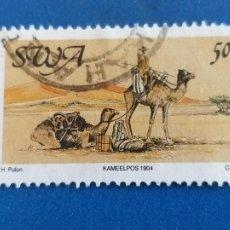 Sellos: SWA. NAMIBIA. YVERT 585. FAUNA. CAMELLO. Lote 254403845