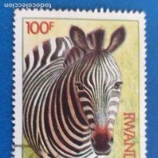 Sellos: RWANDA. AÑO 1984. YVERT 1163. FAUNA SALVAJE - CEBRA. Lote 254468525