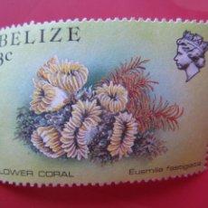 Sellos: *BELIZE, 1984, FAUNA MARINA DE BELIZE, YVERT 660. Lote 255448135