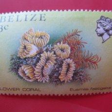 Sellos: *BELIZE, 1984, FAUNA MARINA DE BELIZE, YVERT 660. Lote 255448310