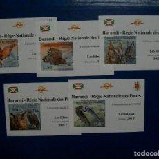 Sellos: /18.04/-LIQUIDACION-BURUNDI-SERIE COMPLETA DE 5 BLOQUES EN NUEVO(**MNH)-BUHOS. Lote 255489945