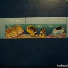 Selos: /18.04/-LIQUIDACION-TONGA-1998-SERIE COMPLETA EN NUEVO(**MNH)-FAUNA MARINA. Lote 255491690