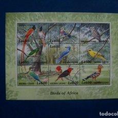 Sellos: /18.04/-LIQUIDACION-SIERRA LEONE-2000-SERIE COMPLETA EN NUEVO(**MNH)-PAJAROS. Lote 255518975