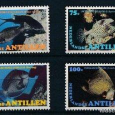 Sellos: ANTILLAS HOLANDESAS 1982 IVERT 664/7 *** FAUNA MARINA - PECES. Lote 261259565