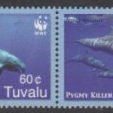 Sellos: TUVALU 2006 IVERT 1141/4 *** PROTECCIÓN DE LA NATURALEZA - FAUNA MARINA - CETÁCEOS. Lote 261583535