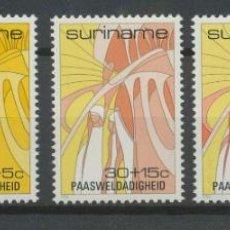Sellos: SURINAM 1986 IVERT 1040/4 *** LA PASCUA - COMPOSICIÓN ALEGÓRICA. Lote 261586375
