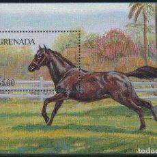Sellos: GRANADA 1986 HB IVERT 157 *** FAUNA - CABALLOS DE RAZA. Lote 261588055