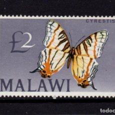 Sellos: MALAWI 51** - AÑO 1966 - FAUNA - MARIPOSAS. Lote 262259935
