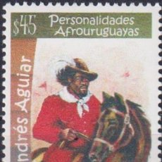 Sellos: ⚡ DISCOUNT URUGUAY 2013 PERSONALITIES OF AFRICAN ORIGINS - ANDRES AGUIAR MNH - CELEBRITIES,. Lote 262873565