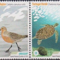 Sellos: ⚡ DISCOUNT URUGUAY 2013 TOURIST DESTINATIONS MNH - BIRDS, TURTLES. Lote 262873740