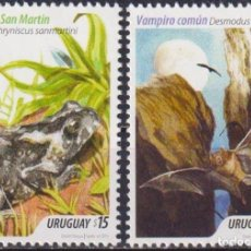 Sellos: ⚡ DISCOUNT URUGUAY 2014 TOURISM - LAVALLEJA MNH - TOURISM, TOADS AND FROGS, THE BATS. Lote 262874225